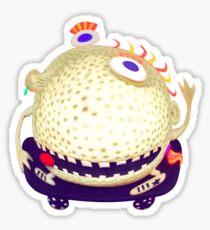 wacky head on a skateboard Sticker