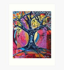 'Tree in an Abstract Landscape' Art Print