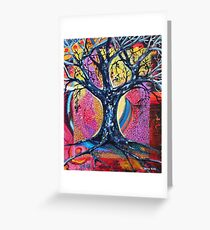 'Tree in an Abstract Landscape' Greeting Card