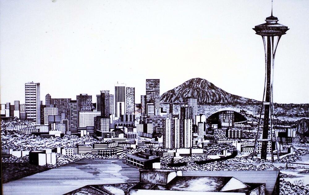 SEATTLE SKYLINE by Tammera