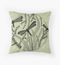 Dragonflies by Night Throw Pillow