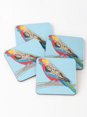 Rosella Bird Coasters
