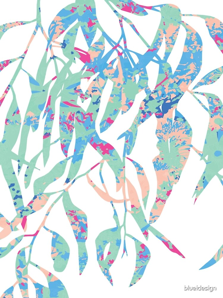Eucalyptus Abstract Wildflowers by blueidesign