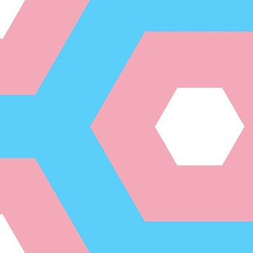 Pink Hexagons Trans* Pride Colour by incurablehippie