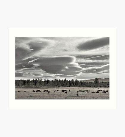 Cloud formations near Sisters Oregon Art Print