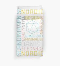 Scandinavian Typography Hexagon Pastel  Duvet Cover