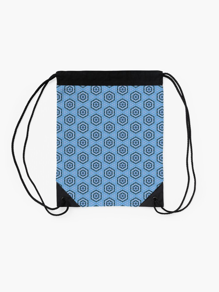 Alternate view of Blue Mosaic Drawstring Bag