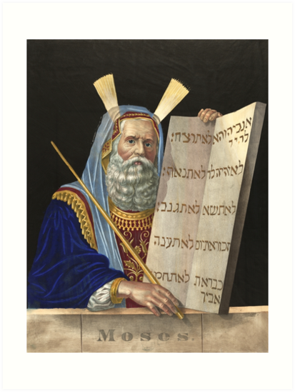Moses with the Ten Commandments by Henry Schile (1874) by allhistory