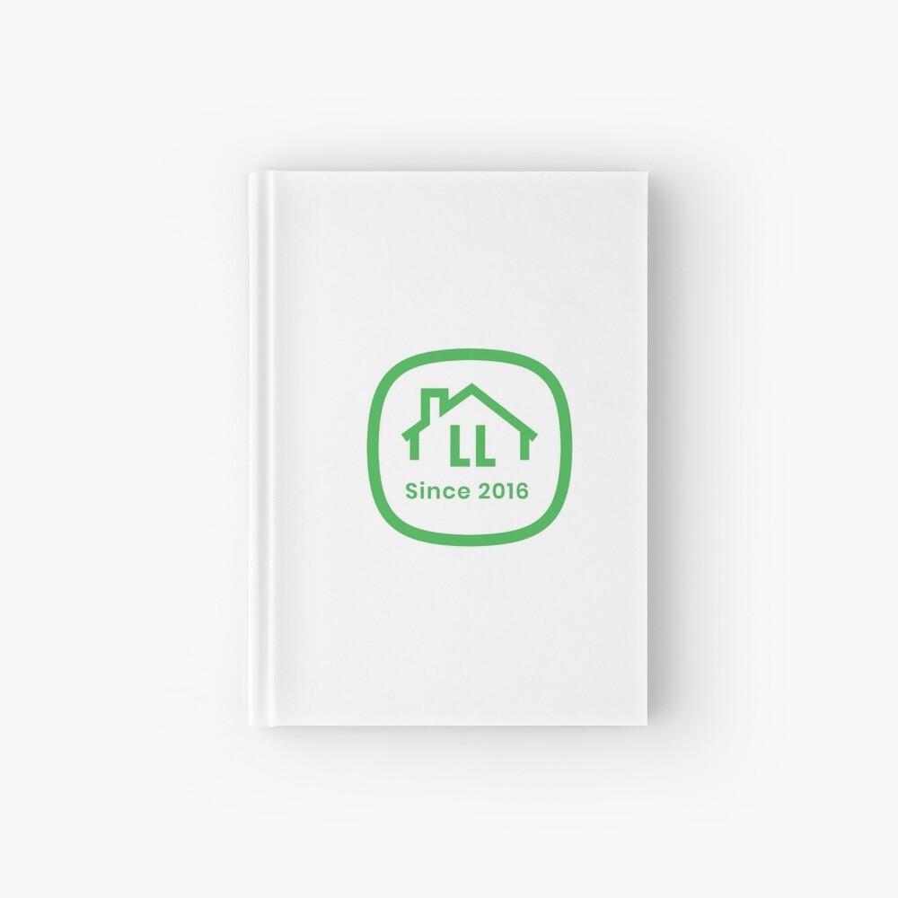 LL White Badge Hardcover Journal