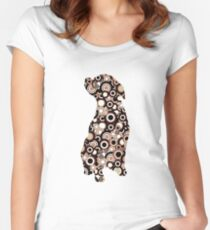 Chocolate Lab - Animal Art Women's Fitted Scoop T-Shirt