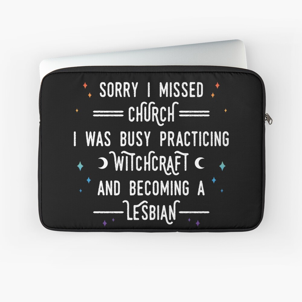Sorry I Missed Church Laptop Sleeve