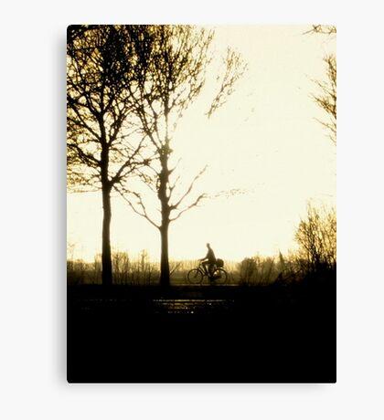 The Morning Biker Canvas Print