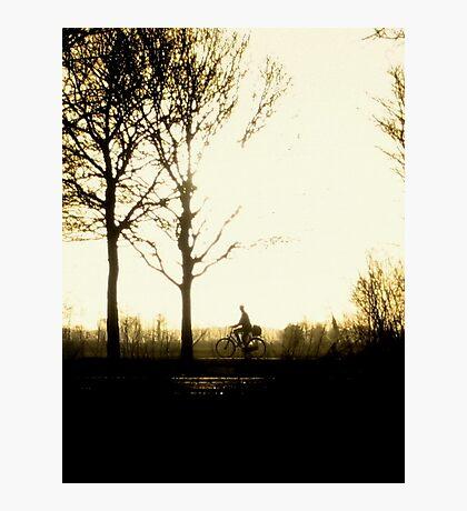The Morning Biker Photographic Print