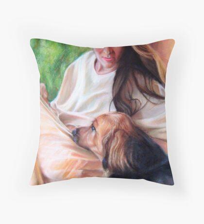 #39 Bonnie and Kodi  Throw Pillow