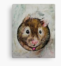 Hamster Love Canvas Print