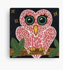 'Owl Heart'  Canvas Print