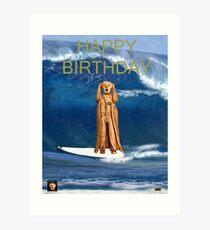 Surfing The Scream World Tour Happy Birthday Art Print