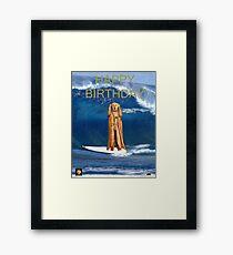 Surfing The Scream World Tour Happy Birthday Framed Print