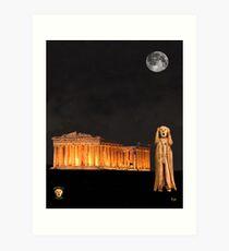 The Scream World Tour Athens Art Print