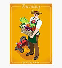 Greengrocer Farmer with Fresh Food Photographic Print