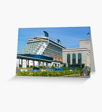 CELEBRITY SOLSTICE IN NAPLES Greeting Card