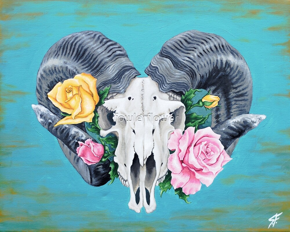 Ram skull by fowlerflower