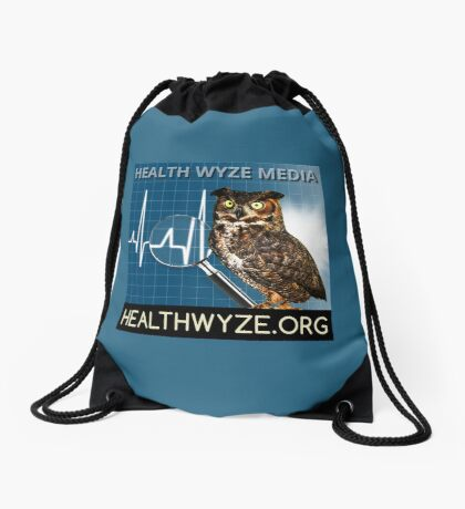 Health Wyze Media Drawstring Bag