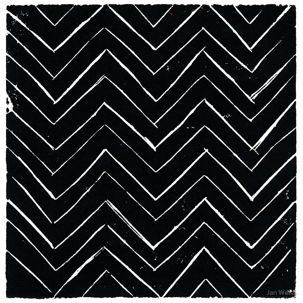 Black and White Chevrons by Jan Weiss