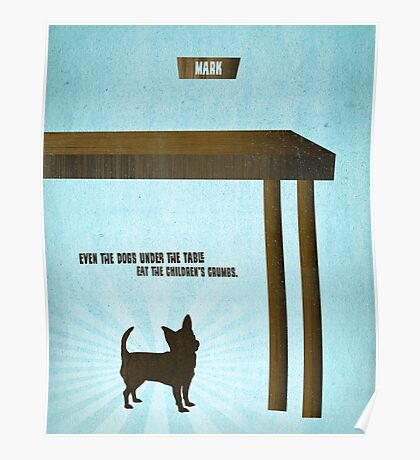Word: Mark (Crumbs for Dogs) Poster