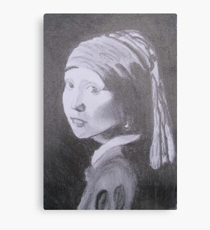 Girl with The pearl Canvas Print