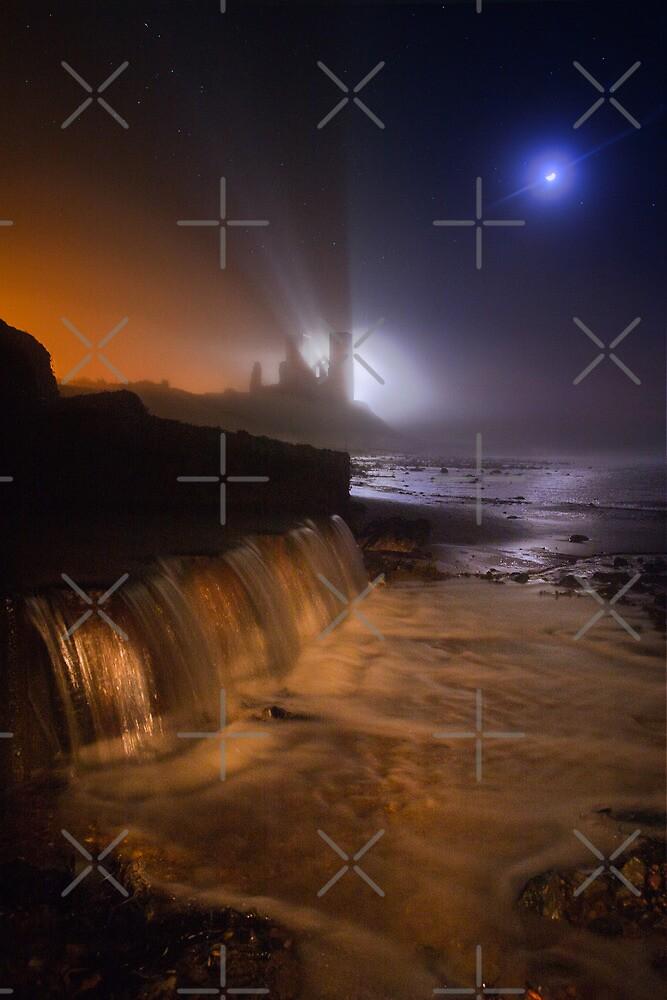 Reculver Towers through the mist by Geoff Carpenter