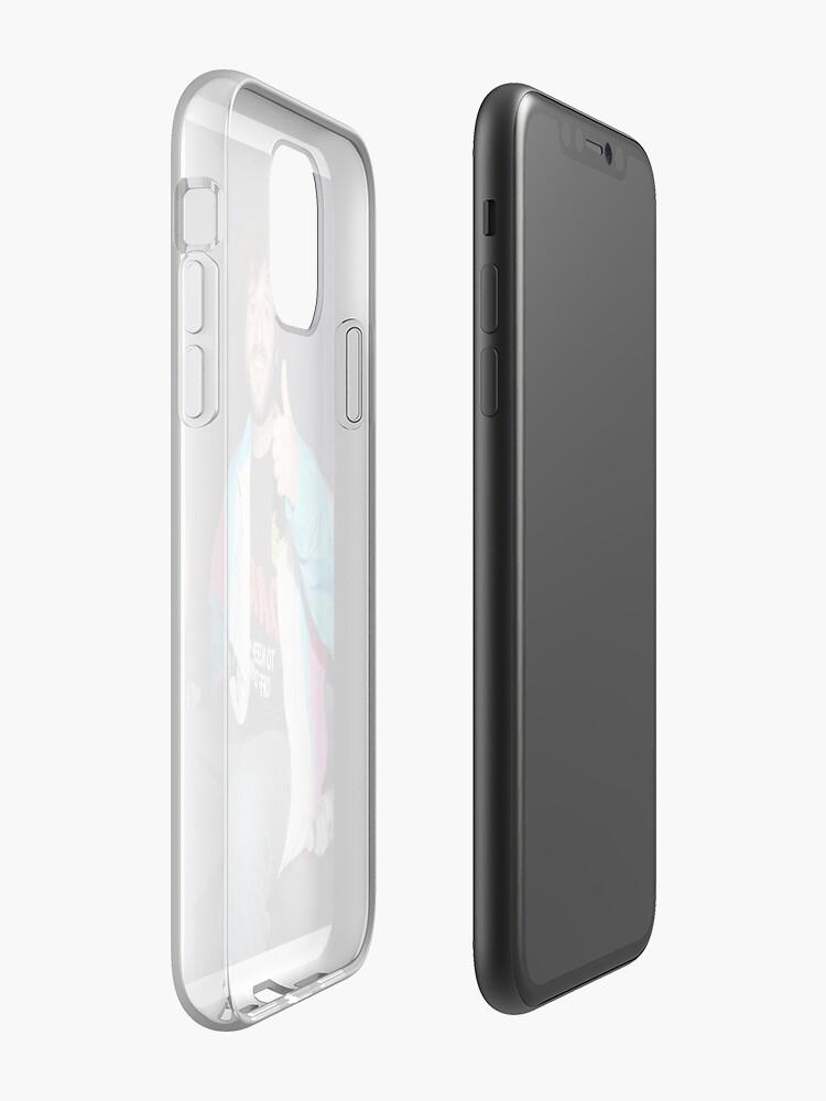 """Coque iPhone «Rare Lil Dicky Blanc Cassé """"D.A.R.E."""" être différent (Clout Niv 7.3)», par peternash3"""