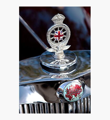 Triumph Roadster Hood Ornament Photographic Print