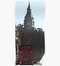 Big Ben & London Bus Poster