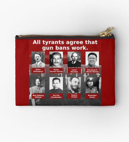 Tyrants Love Gun Control Zipper Pouch