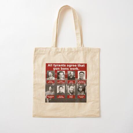 Tyrants Love Gun Control Cotton Tote Bag