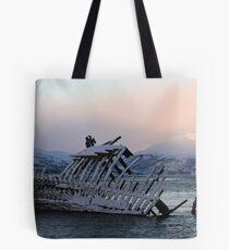Great Cormorant at the shipwreck Tote Bag