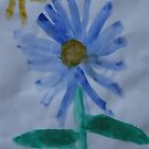 My blue flower by Dawid Groenenstein