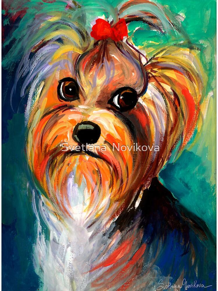 Yorkshire Terrier dog Painting #1 Svetlana Novikova by novikova-art