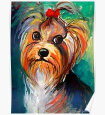Yorkshire Terrier dog Painting #1 Svetlana Novikova Poster