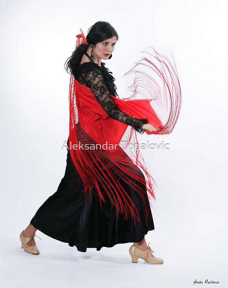 Flamenco dancer 3 by Aleksandar Topalovic