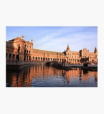 Plaza de Espana pond Photographic Print