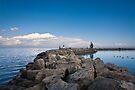 Jordan Harbour Breakwater by Daphne Johnson