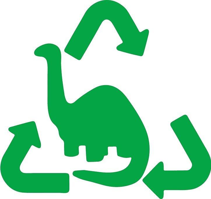 Brontosaurus Recycled Gas Cap Door Green by MetroBionic