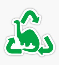 Brontosaurus Recycled Gas Cap Door Green Sticker