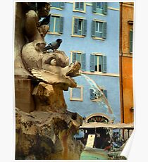 Pantheon Fountain - Rome Poster