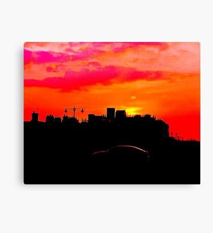Sundown Drive-by Canvas Print