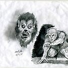 Werewolf study by mattycarpets