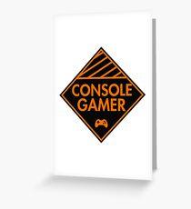 Console Gamer (Orange) Greeting Card