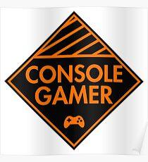 Console Gamer (Orange) Poster